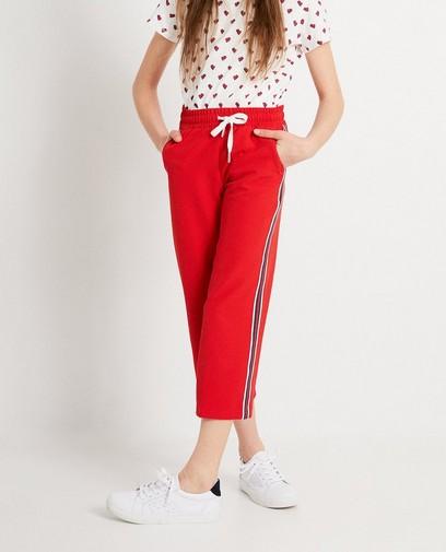 Rode broek met streep Campus12
