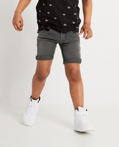 Grijze short van sweat denim Mickey