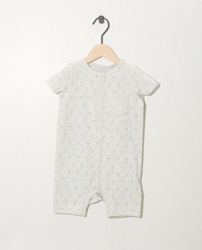 Grauer Schlafanzug aus Biobaumwolle