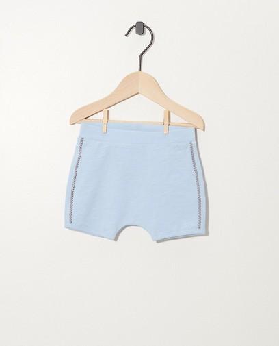 Hellblaue Shorts aus Biobaumwolle