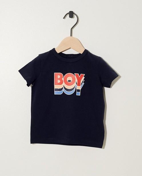 Donkerblauw T-shirt BESTies - Retro print & opschrift - Besties
