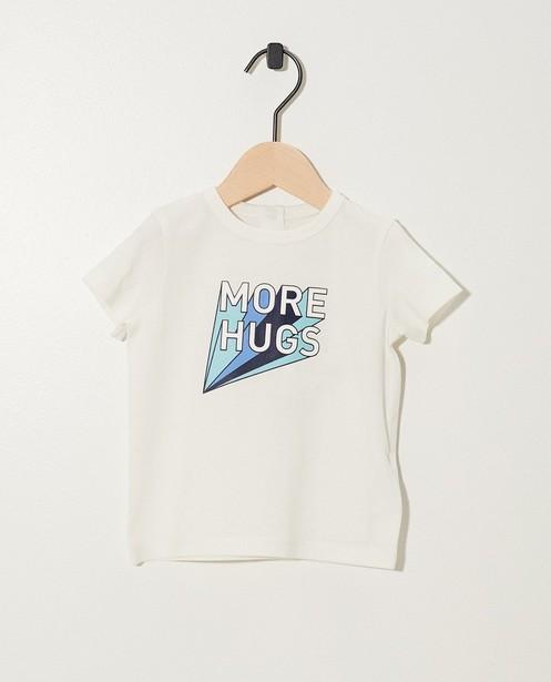 T-shirt bleu foncé BESTies - imprimé + inscription rétro - Besties