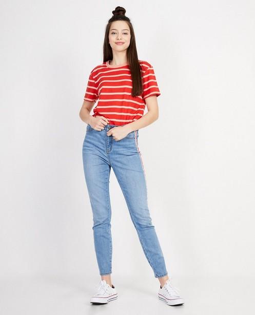 T-shirt rayé rouge - ample - JBC