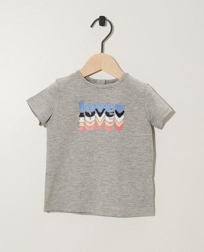 Graues T-Shirt mit Aufschrift