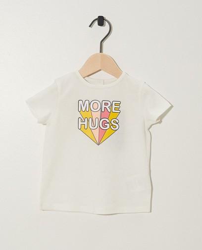 T-shirt blanc, inscription BESTies