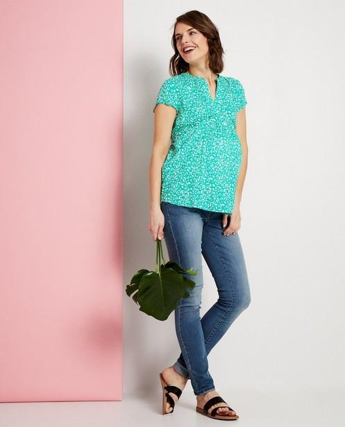 T-shirt vert imprimé JoliRonde - t-shirt de grossesse - Joli Ronde