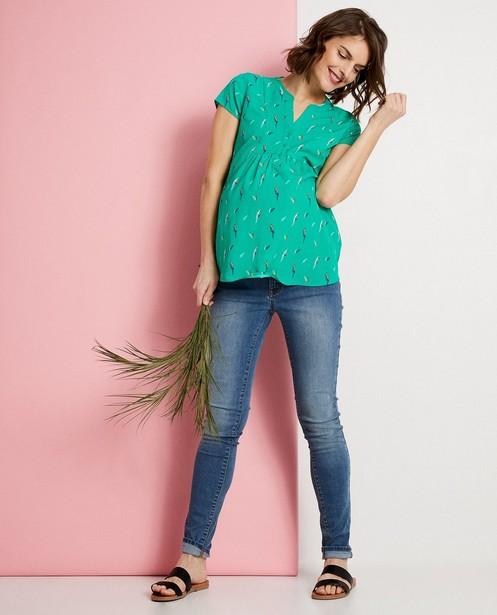 T-shirt de grossesse vert JoliRonde - imprimé intégral - Joli Ronde