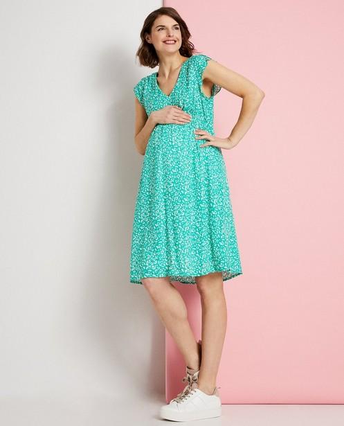 Robe verte à imprimé JoliRonde - robe de grossesse - Joli Ronde