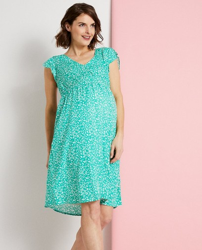 Groene jurk met print JoliRonde