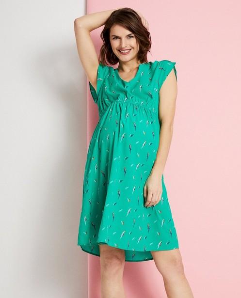 Kleedjes - Groene jurk met allover print JoliRonde