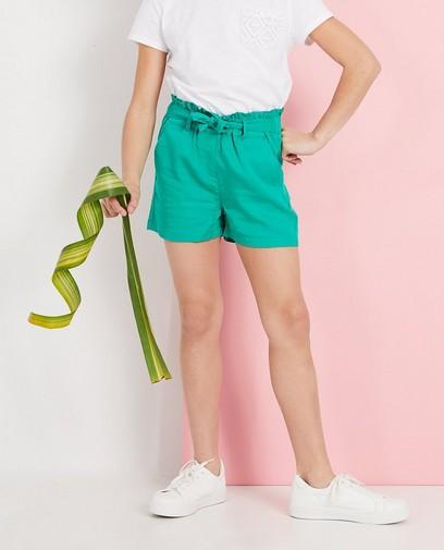 Effen groene short