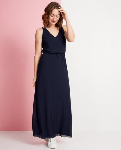 Donkerblauwe maxi-jurk