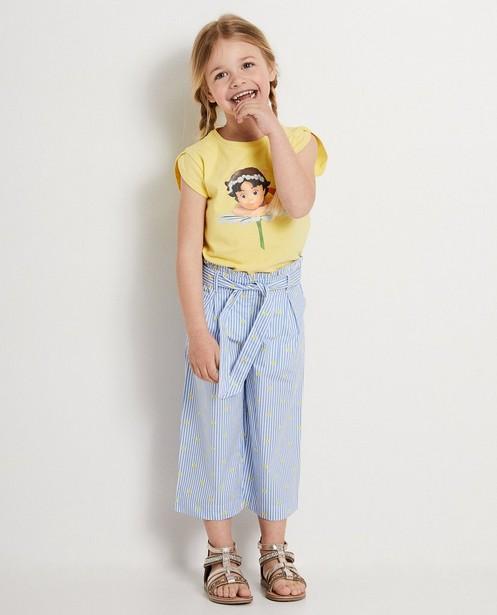 Blauw T-shirt met print Heidi - gladde print - Heidi
