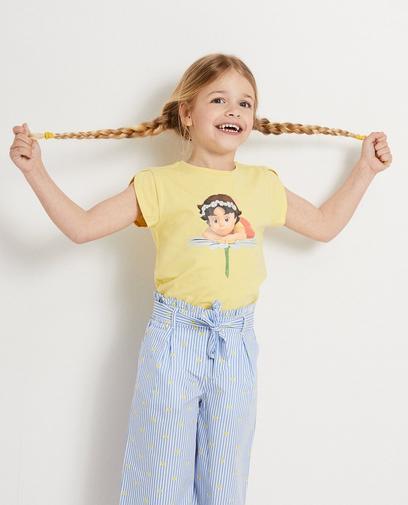 Geel T-shirt met print Heidi
