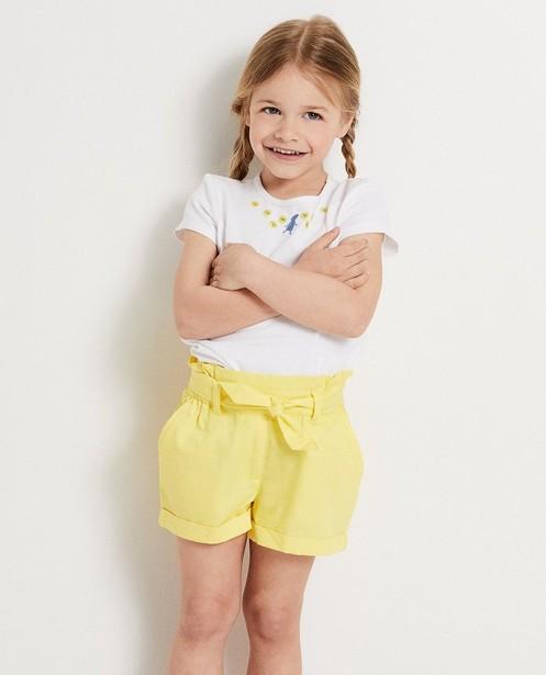 T-shirts - WTM - Wit T-shirt met bloemetjes Heidi
