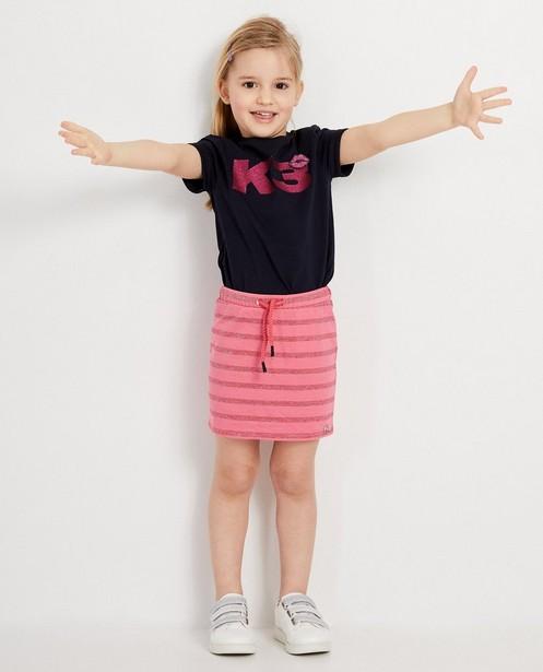 Roze rokje met metaaldraad K3 - Allover gestreept - K3