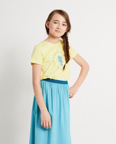 Geel T-shirt van biokatoen I AM