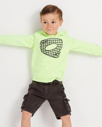 Neongelbes Sweatshirt mit Logo Rox