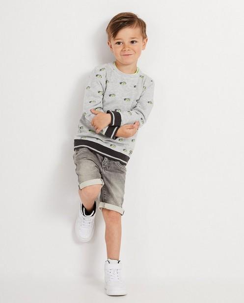 Grijze sweater met print Rox - met fluo - Rox