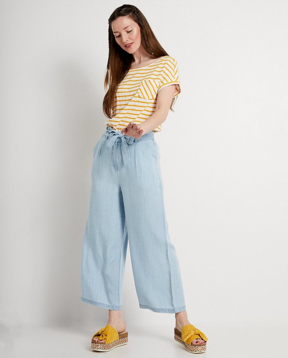 Pantalon bleu clair en lyocell - à jambes larges - JBC