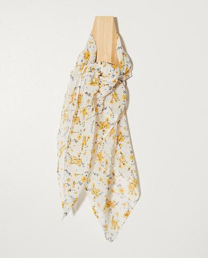 Wit sjaaltje met bloemenprint