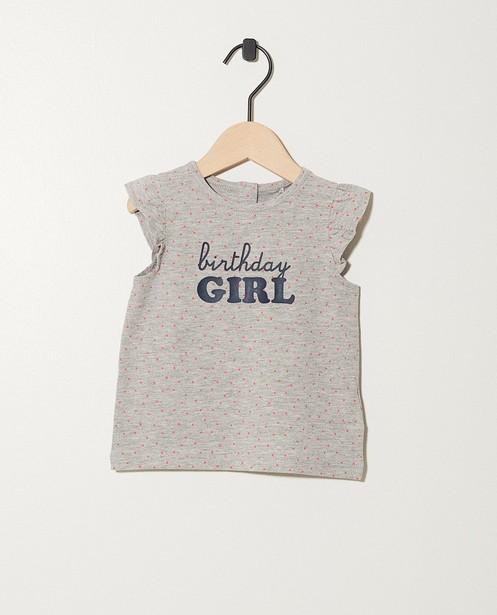 T-shirt d'anniversaire - coton bio - JBC