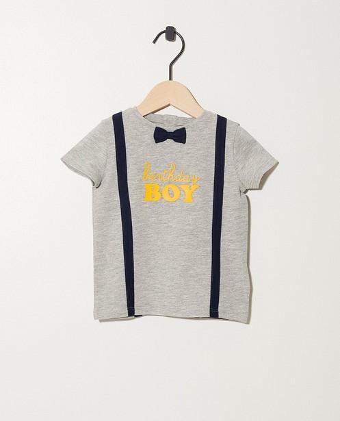 T-shirt verjaardag met opschrift - van biokatoen - JBC