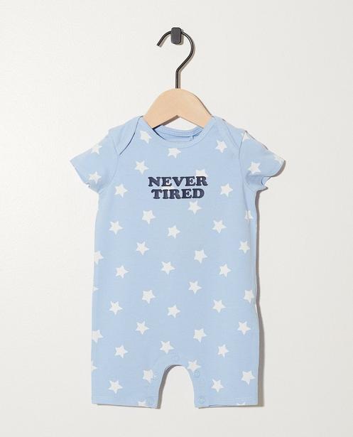 Body en coton bio    - My First, bleu clair - Newborn
