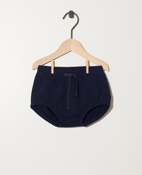 Pantalon bleu, coton bio My First  - En bleu foncé - Newborn
