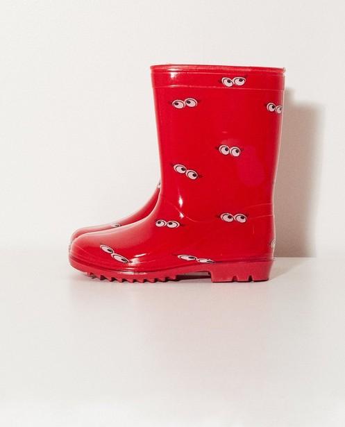 Bottes de pluie imprimées - 7-14 ans, rouges - JBC