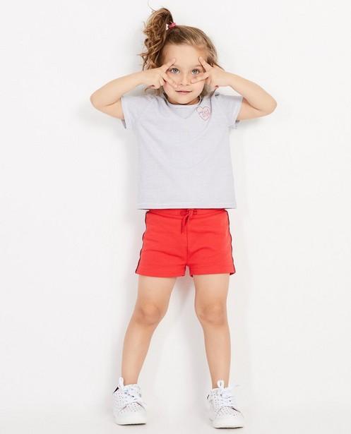 T-shirt blanc BESTies - rayures à pois - Besties