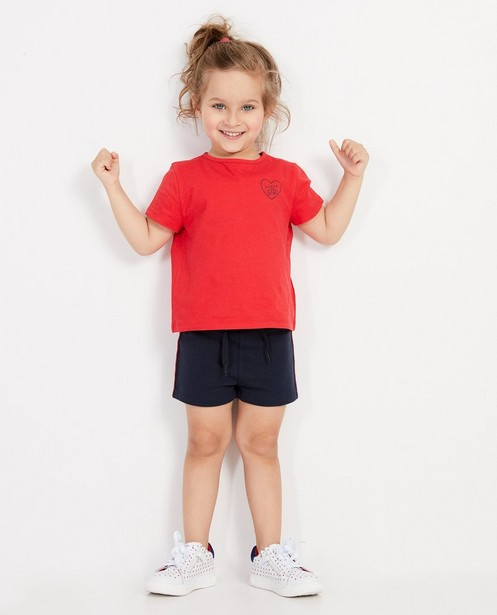 T-shirt rouge, inscription BESTies - et imprimé - Besties