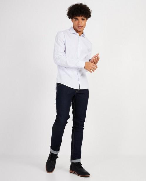 Fijn gestreept hemd - slim fit - Iveo
