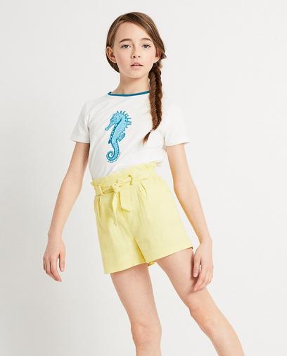 Wit T-shirt met zeepaardje I AM
