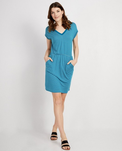 Blauw jurkje van lyocell I AM - met strepen - I AM