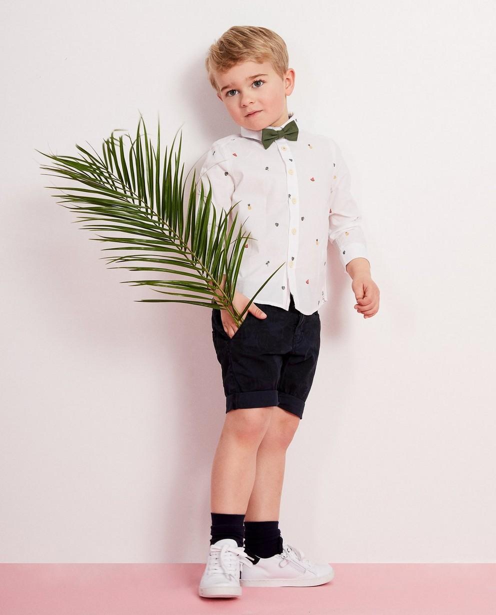 Chemise blanche, nœud, 2-7 ans - imprimé estival - JBC