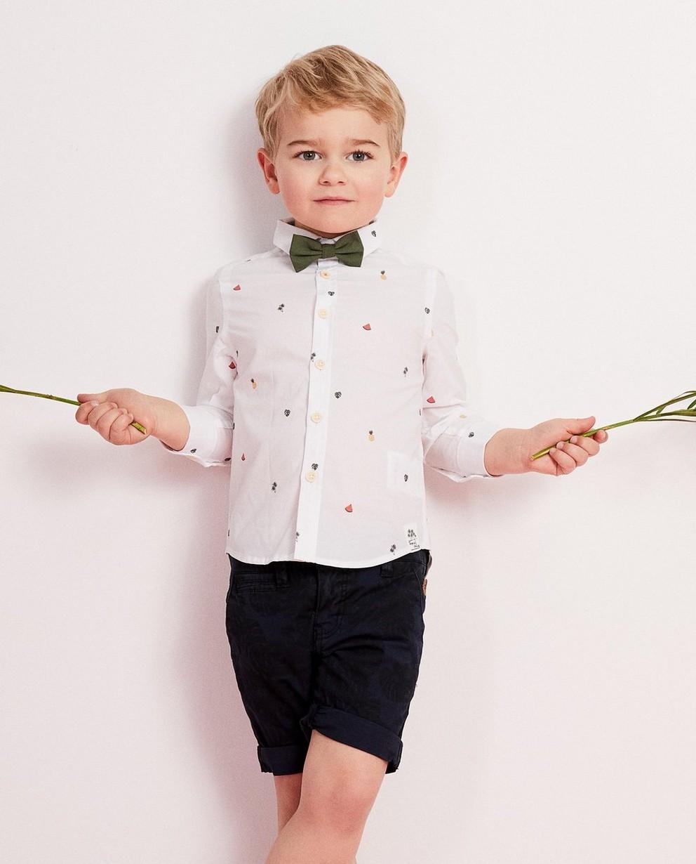 Chemises - white - Wit hemd met vlinderdas 2-7 jaar