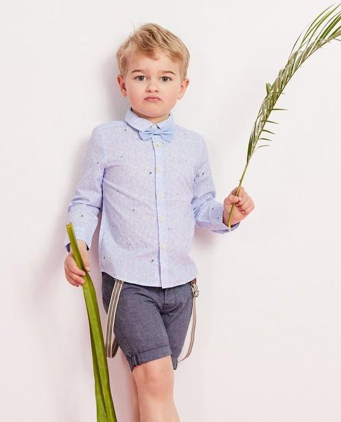 Chemises - light turquise - Blauw hemd met vlinderdas 2-7 jaar