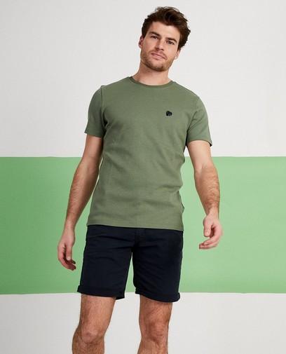 T-shirt kaki, slim fit
