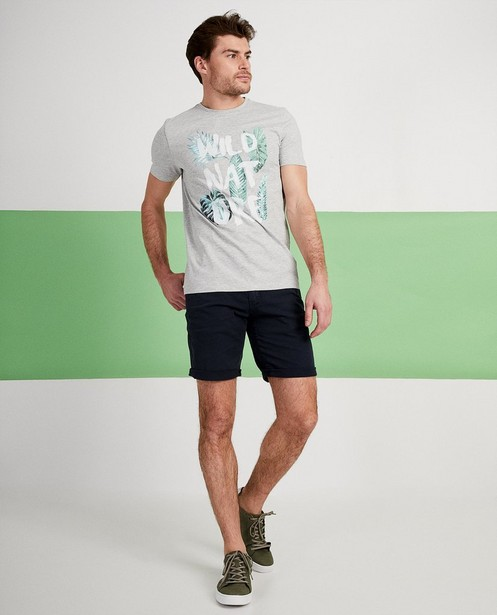 Grijs T-shirt met print - 'wild nature' - JBC