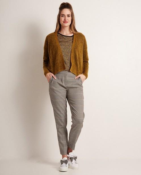 Pantalon pied-de-poule - taille élastique - JBC