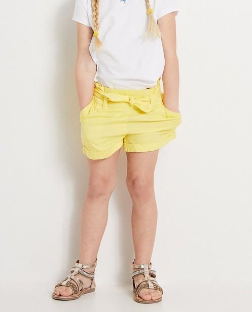 Shorten - BLM - Gele short met knooplint Heidi