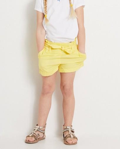 Gele short met knooplint Heidi