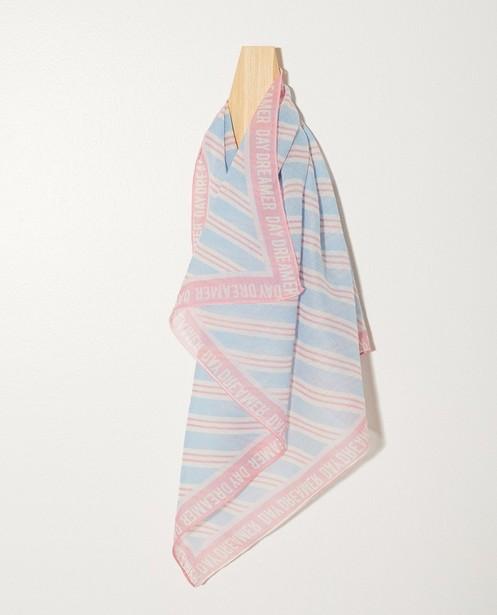 Gestreepte sjaal - In blauw en rose - Groggy