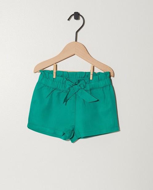 Short vert en lyocell - paperbag waist - JBC