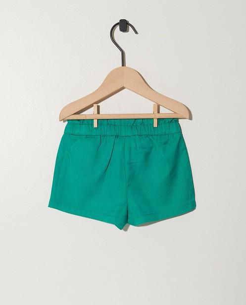 Shorts - green - Groene short van lyocell