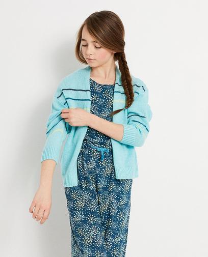 Turquoise cardigan I AM