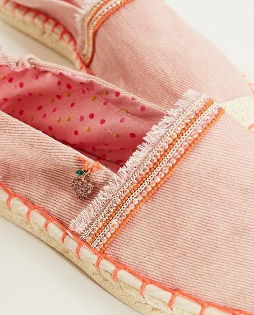 Schoenen - RSM - Roze espadrilles met steentjes