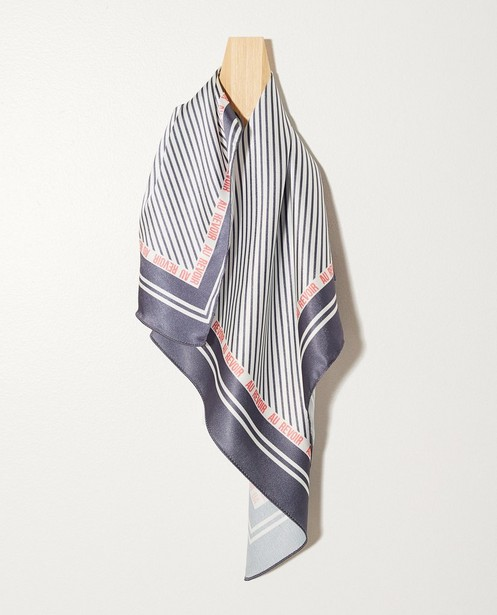 Gestreept sjaaltje - In grijs en wit - Groggy
