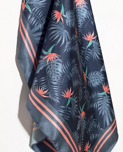Bonneterie - aqua - Écharpe bleue, imprimé tropical